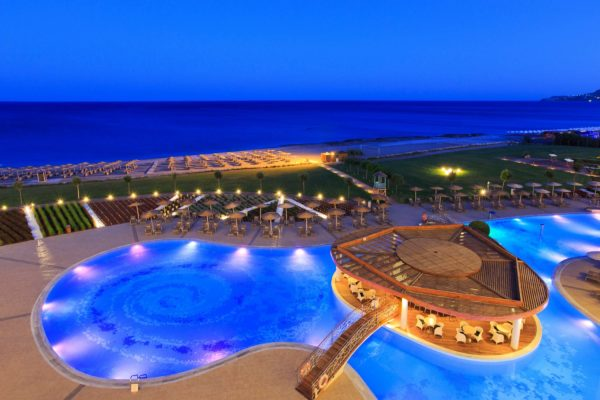 Pools & Beach Night View