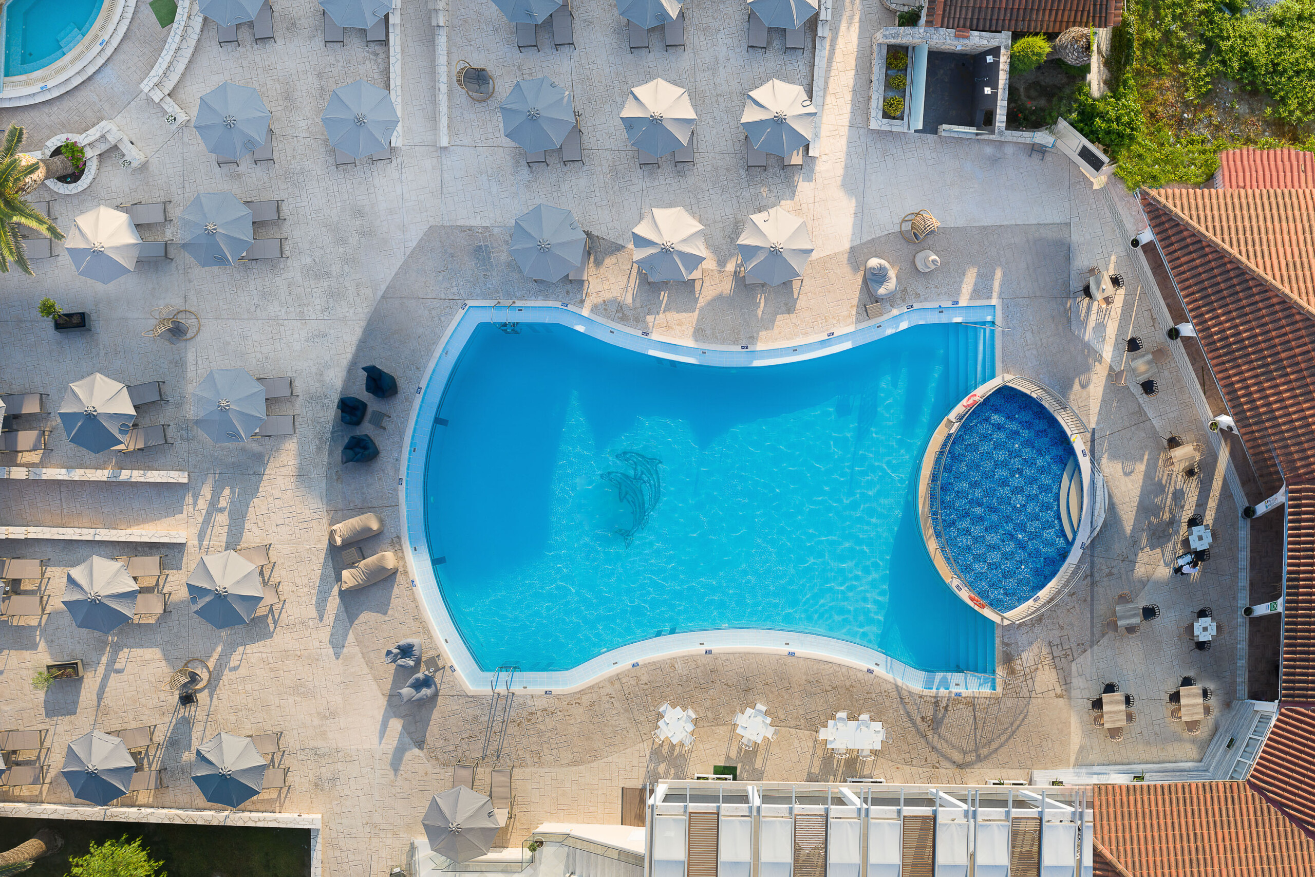Marelen Hotel_Aerial View_Main Pool_Dolphins_48_OK