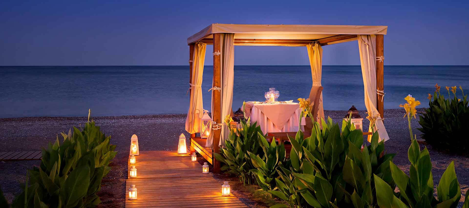 Outdoor Candlelit Dinner